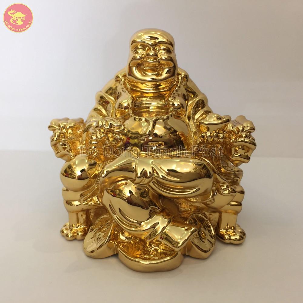 Quà tặng bằng đồng tượng phật Di Lạc đồng vàng