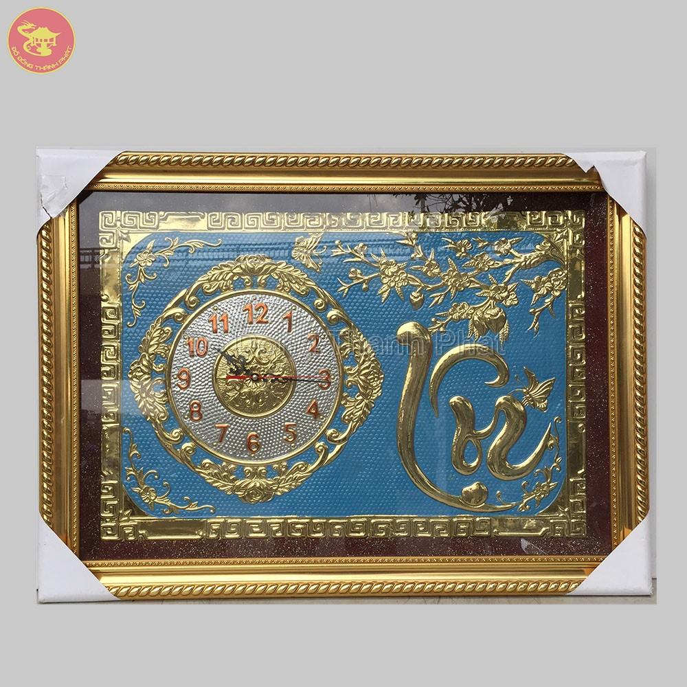 Tranh đồng hồ chữ Lộc treo tường