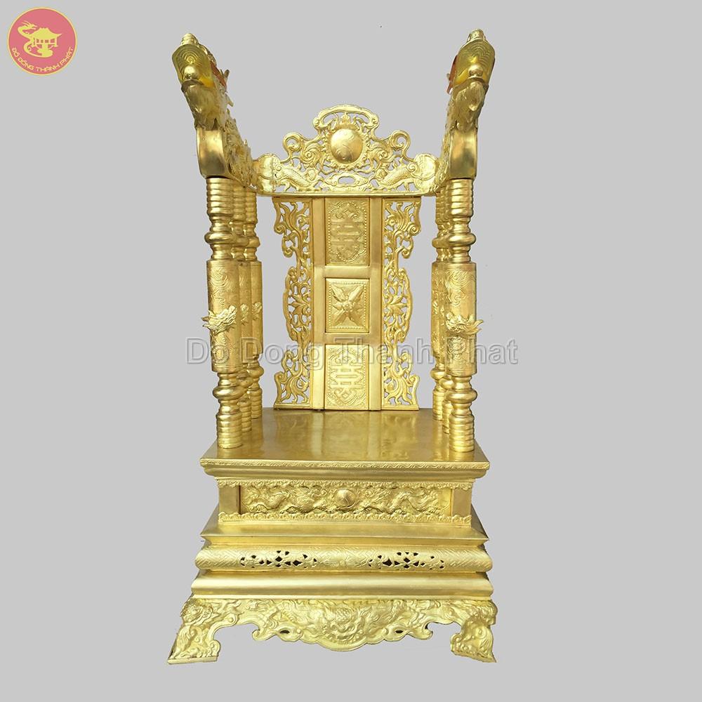 Ngai Thờ Tổ Tiên Bằng Đồng Vàng68 cm, rộng 42 cm, cao 81 cm rộng 45 cm