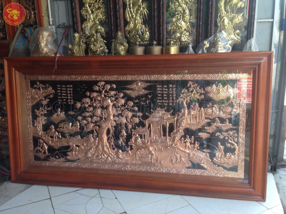 Bức Tranh Đồng Quê Đồng Đỏ Dài 2,3 m, Rộng 1,2 m