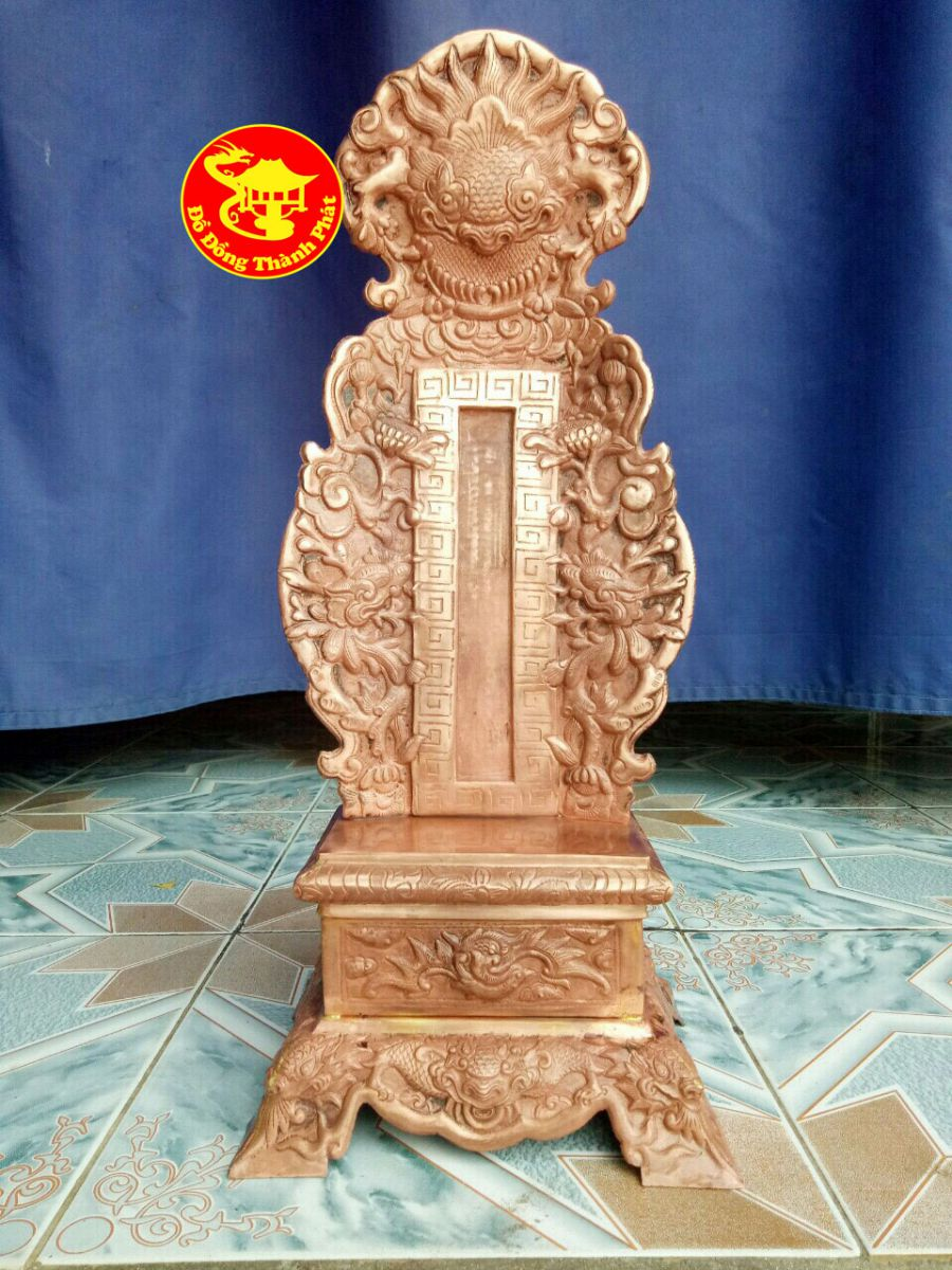 Bài Vị thờ Cúng Gia Tiên bằng Đồng Đỏ Cao 61 Cm Cho Nhà Thờ Họ Nguyễn