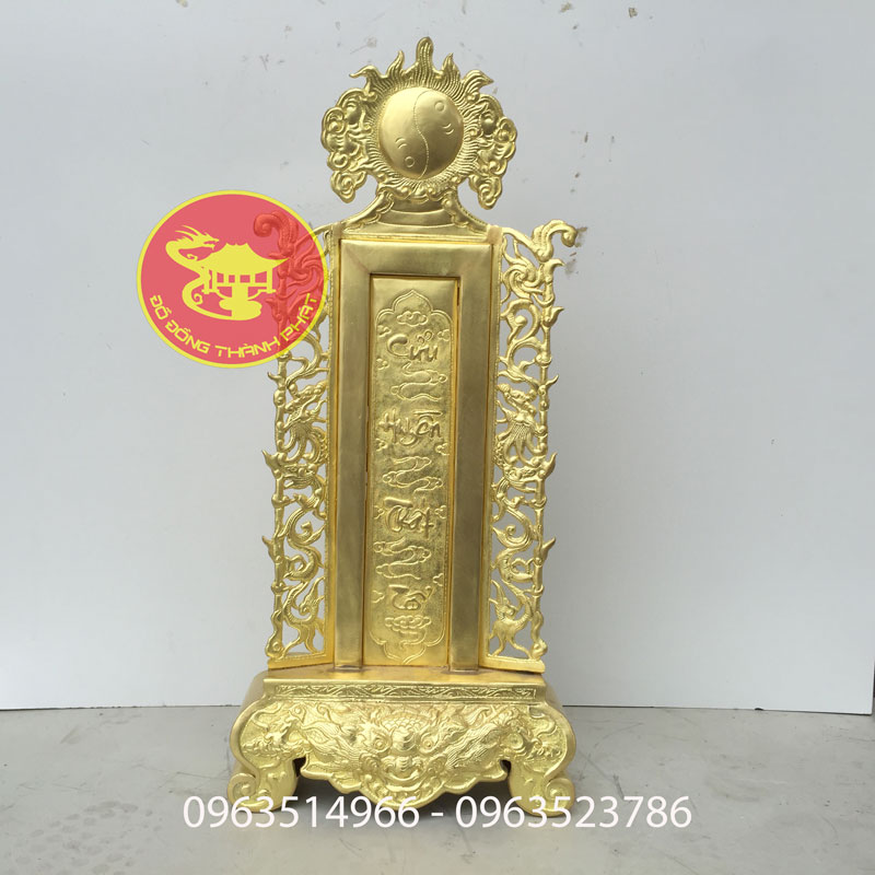Bài Vị Bằng Đồng Cửu Huyền Thất Tổ Chữ Việt Thư Pháp Cao 36 Cm Rộng 18 cm