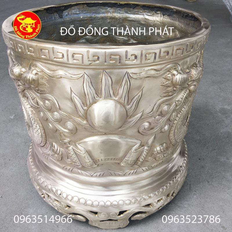Bát Hương Bằng Đồng Vàng Đường Kính 40cm Thờ Cúng Đền Chùa
