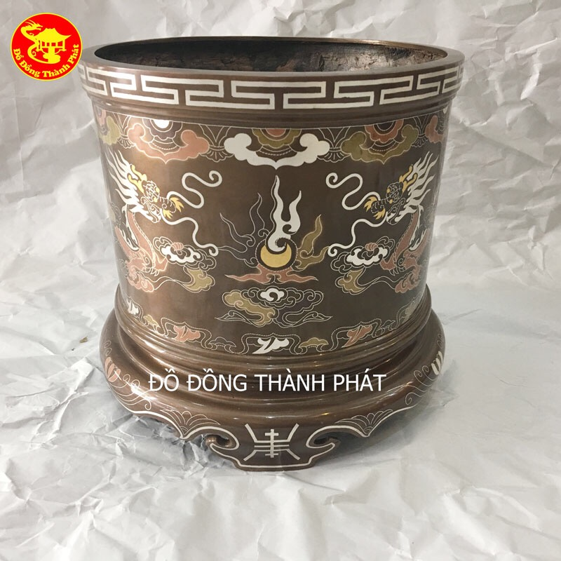 Bát Hương Đồng Khảm Tam Khí Ngũ Sắc Cao Cấp tại Hà Nội, Đà Nẵng, tp.HCM