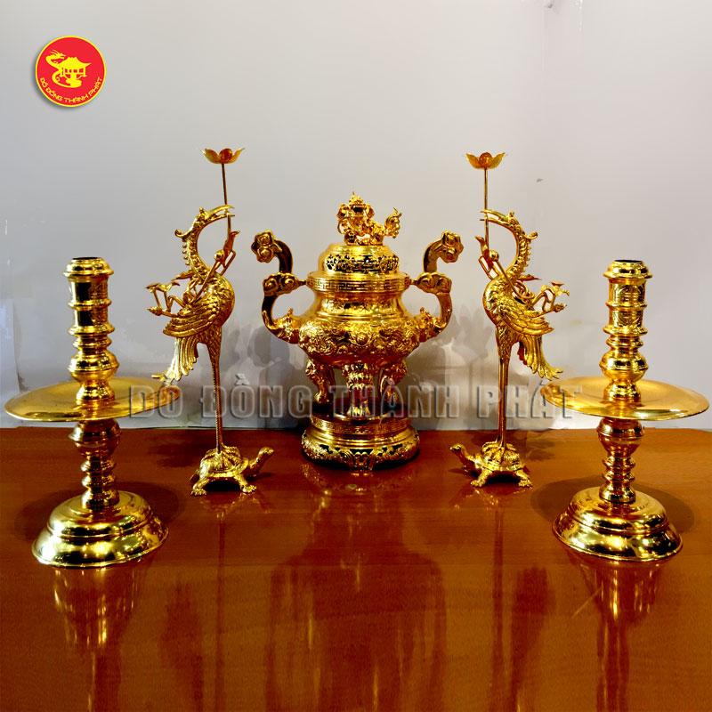 Bộ thờ cúng dát vàng 9999