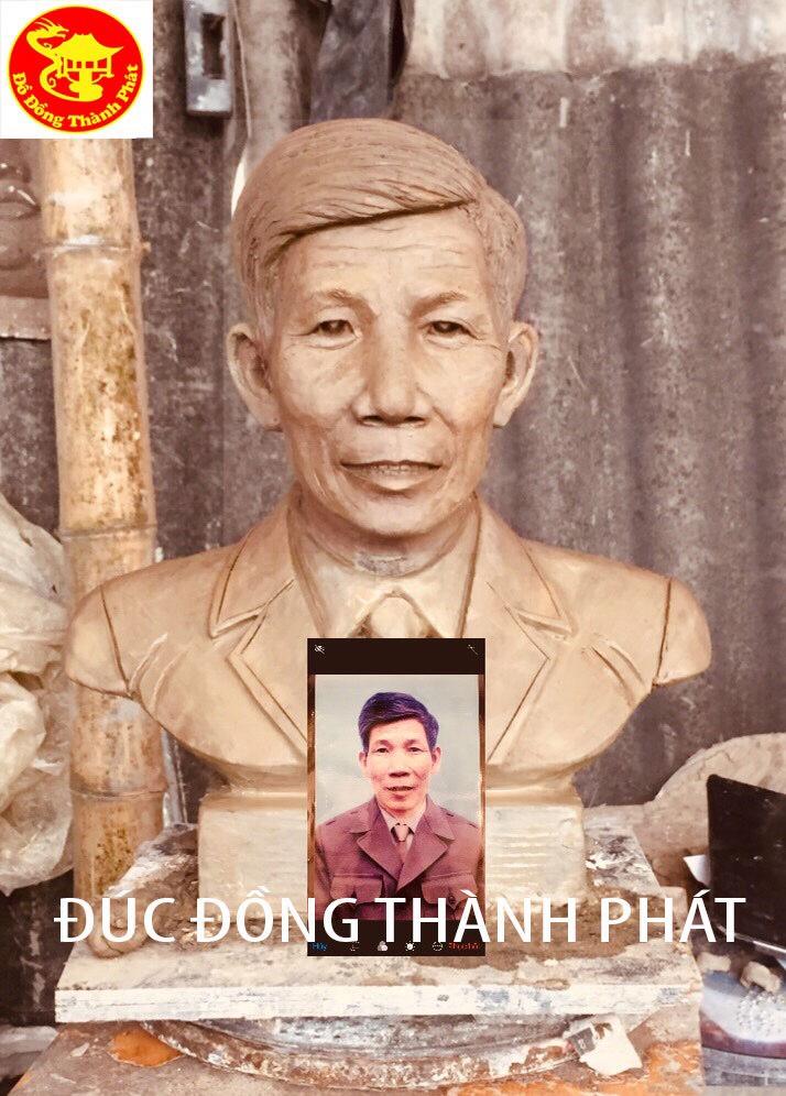 Đúc Tượng Đồng Chân Dung Bán Thân Cao 42 cm Cho Khách Nghĩa Tân Cầu Giấy Hà Nội