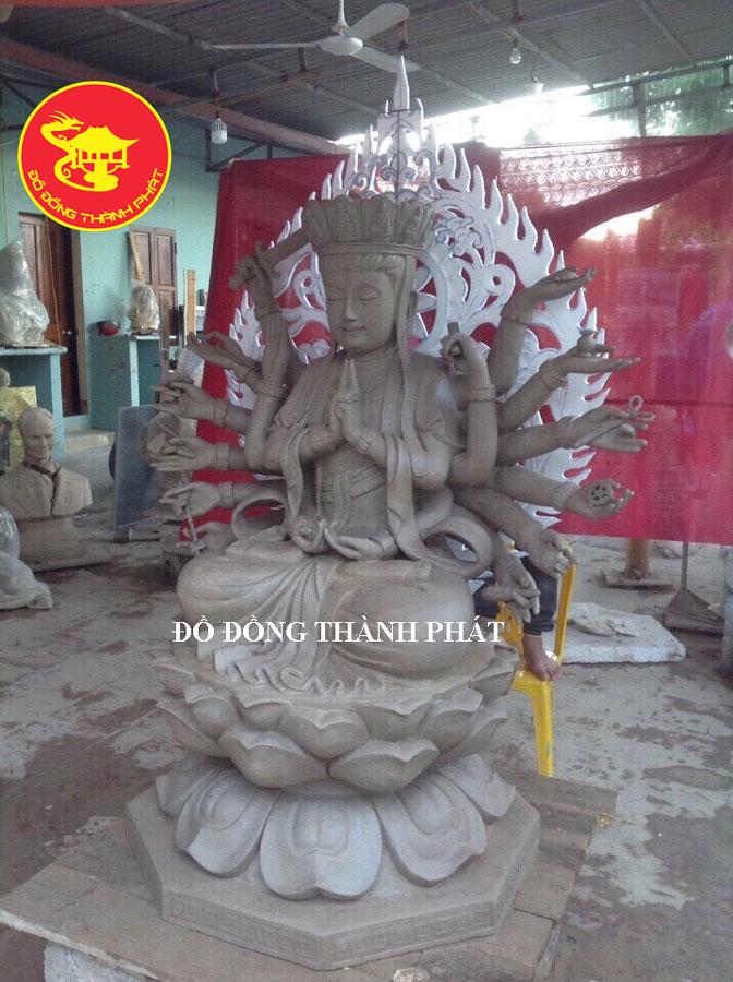 Cơ Sở Đúc Tượng Phật Chuẩn Đề Bằng Đồng Đỏ Cho Chùa Đẹp Uy Tín Tại Cầu Giấy Hà Nội