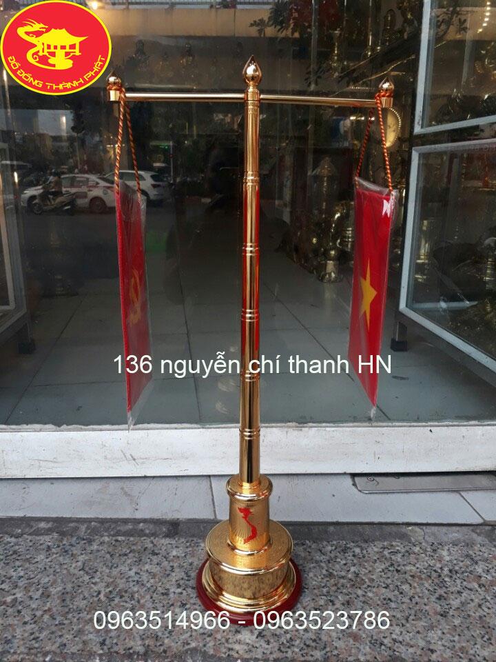 Cột Cờ Đơn 2 Tay Bằng Đồng Cao 56cm