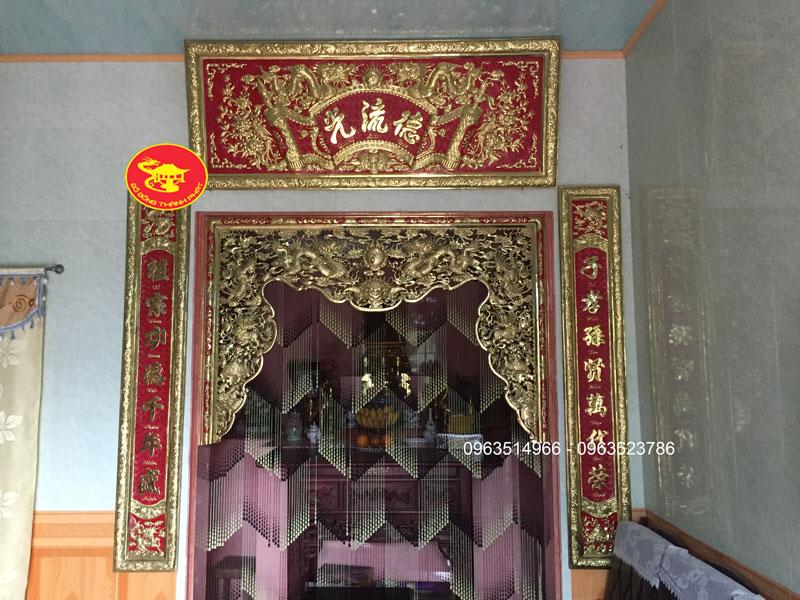 Bộ Cửa Võng Tứ Linh Bằng Đồng