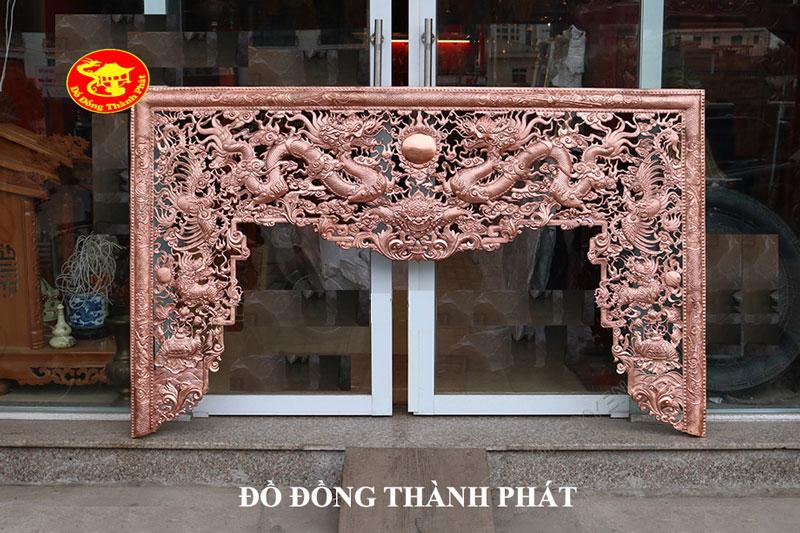 Bộ Cửa Võng Thờ Bằng Đồng Mẫu Cửa Võng Thờ Tứ Linh