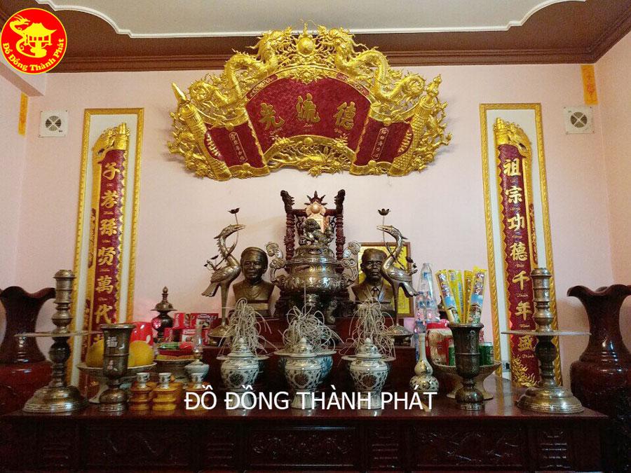 Mẫu Cuốn Thư Câu Đối Bằng Đồng Mạ Vàng Cao Cấp tại Hà Nội, Đà Nẵng, Sài Gòn