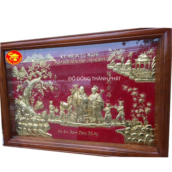 Tranh Mừng Thọ Cụ Ông Bà Bằng Đồng| Địa chỉ bán tranh đồng đẹp, uy tín