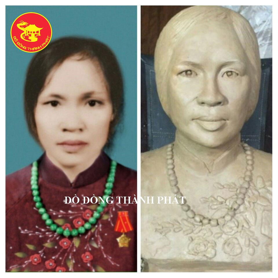 Địa chỉ Đúc Tượng Chân Dung Bán Thân Cụ Bà cực đẹp tại Hà Nội, Đà Nẵng, HCM
