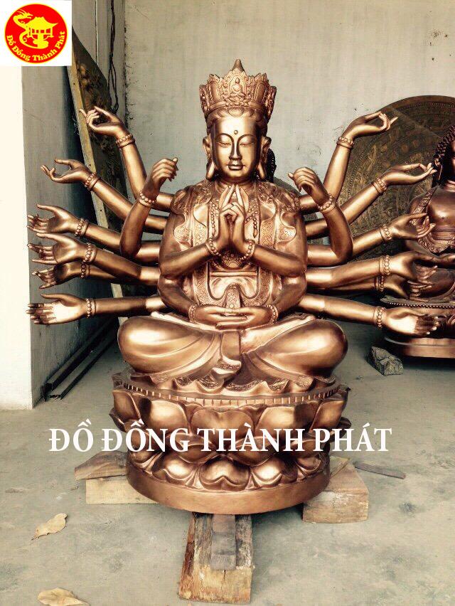 Đúc Tượng Phật Chuẩn Đề Bằng Đồng Diện Đẹp Cao 1,27 m