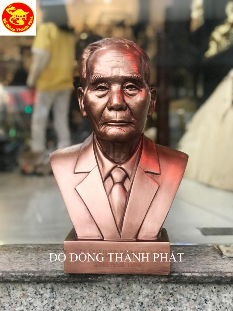 Đúc Tượng Đồng Chân Dung Bán Thân Cụ Ông Cao 42 cm Bằng Đồng