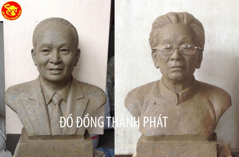 Đúc Tượng Đồng Chân Dung Bán Thân Cao 50 Cm Cho khách Tuy Hòa Phú Yên