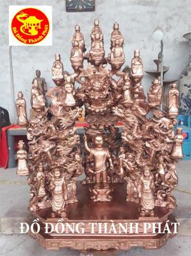 Đúc Tượng Phật Bằng Đồng Đúc Tượng Đồng Đỏ Tòa Cửu Long Bằng Đồng Cho Chùa Cao 1,27 m