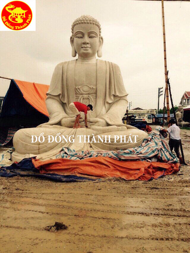 Địa Chỉ Đúc Tượng Phật Bằng Đồng Diện Đẹp Cao 3,5 m