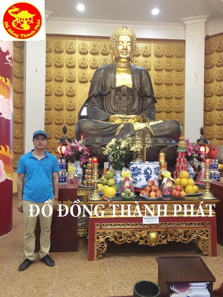 Đúc Tượng Phật Bổn Sư Thích Ca Mâu Ni Bằng Đồng Diện Đẹp Cao 2,3 m