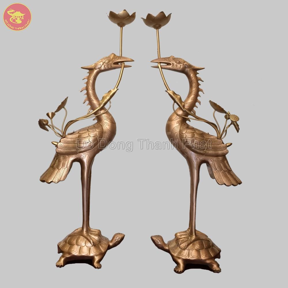 Hạc đồng hun giả cổ cao 55 cm