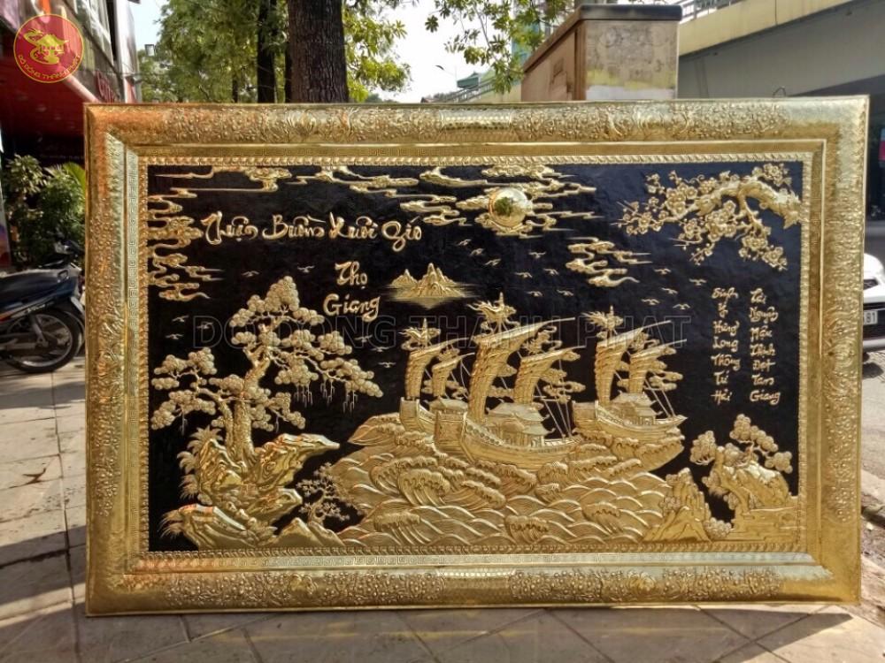 Bức Tranh Đồng Vàng Thuận Buồm Xuôi Gió Cao Cấp