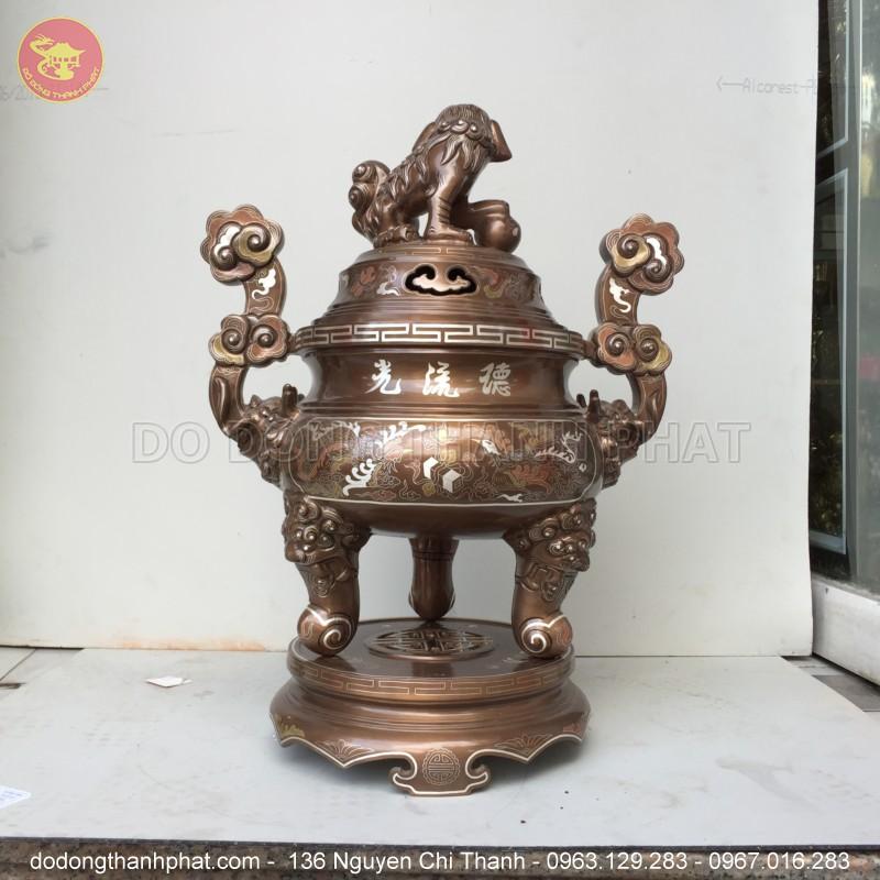 Bộ ngũ sự khảm ngũ sắc 5 chữ vàng 55cm tại Hà Nội