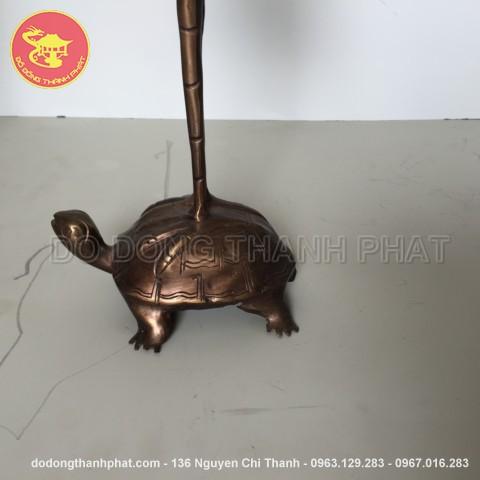 Hạc đồng hun nâu giả cổ cao 50 cm