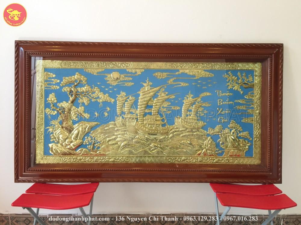 Bức Tranh Đồng Vàng Thuận Buồm Xuôi Gió