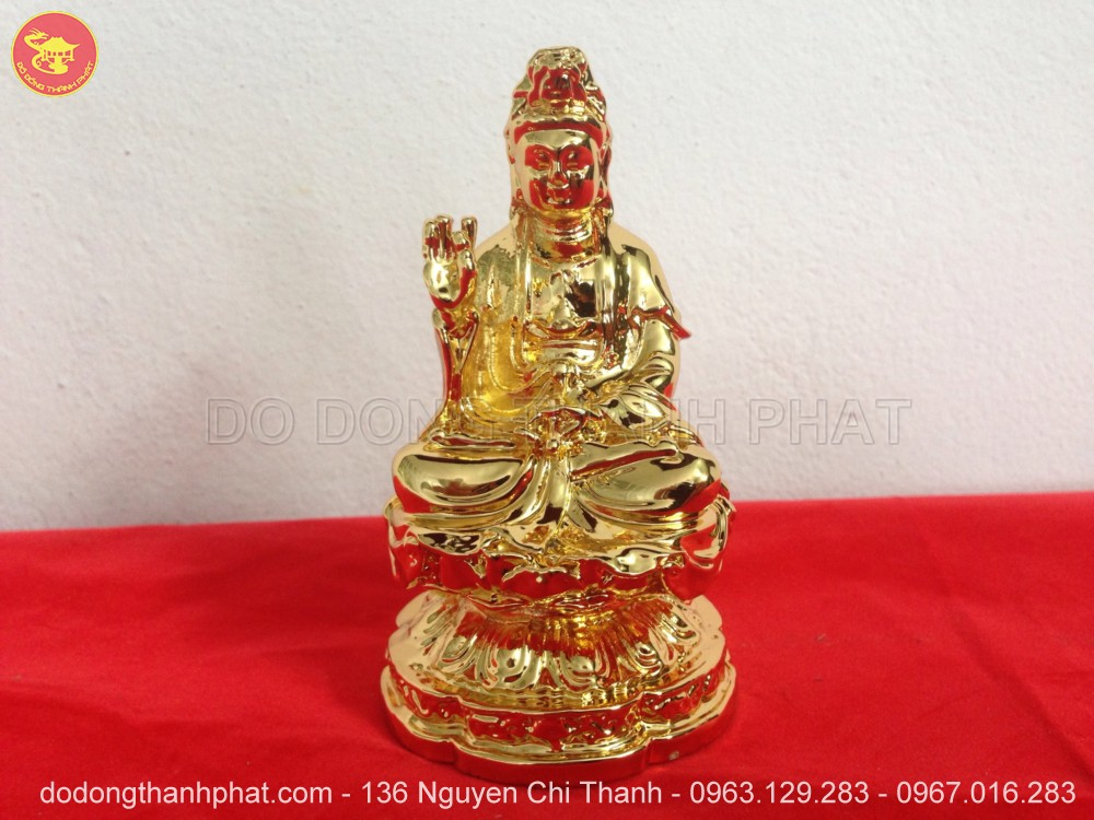 Địa chỉ bán tượng Phật bằng Đồng  Quán Thế Âm Bồ Tát đẹp để trong ô tô