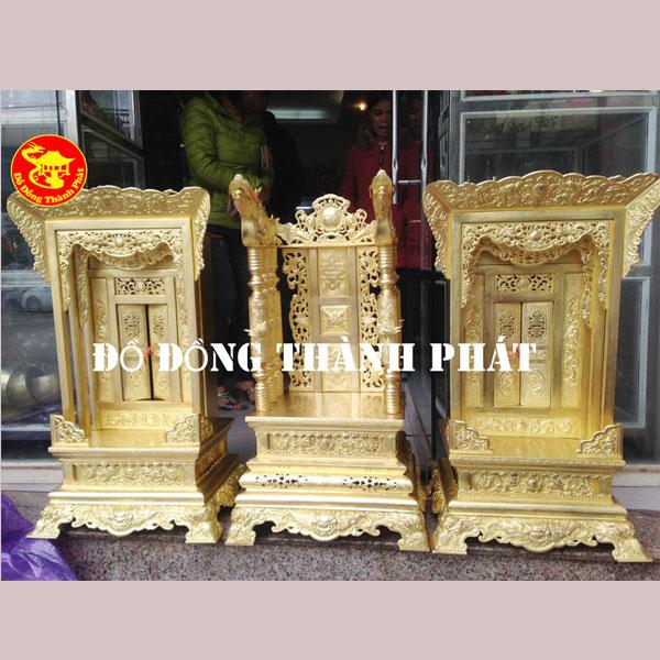 Ngai Khám Đồng Thờ Cúng Gia Tiên Nhà Họ cao 81 cm, rộng 45 cm