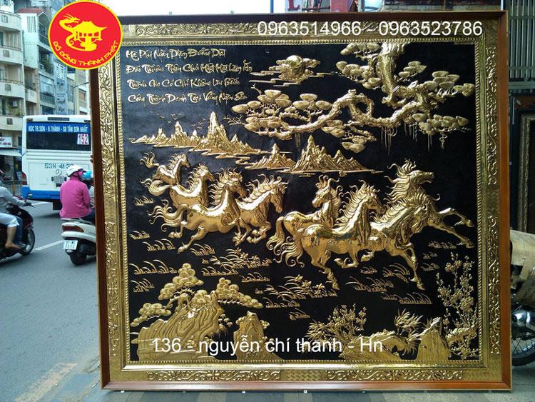 Cơ Sở Nhận Làm Tranh Mã Đáo Thành Công Bằng Đồng Mạ Vàng 24k Theo Yêu Cầu