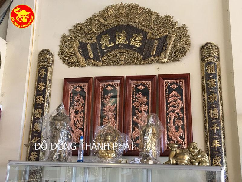 Bộ Cuốn Thư Câu Đối Bằng Đồng Hun Màu Giả Cổ Đẹp Tại Hà Nội, Đà Nẵng, Sài Gòn.