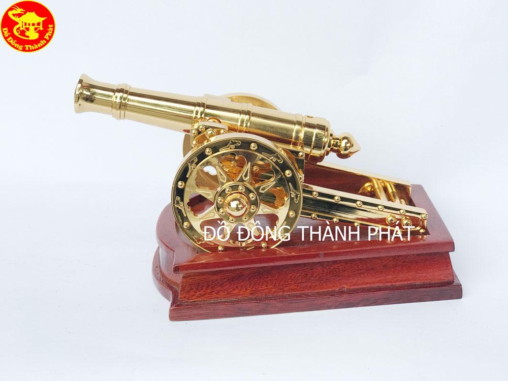 Quà Tặng - Súng Thần Công Bằng Đồng Mạ Vàng 24k Cao Cấp
