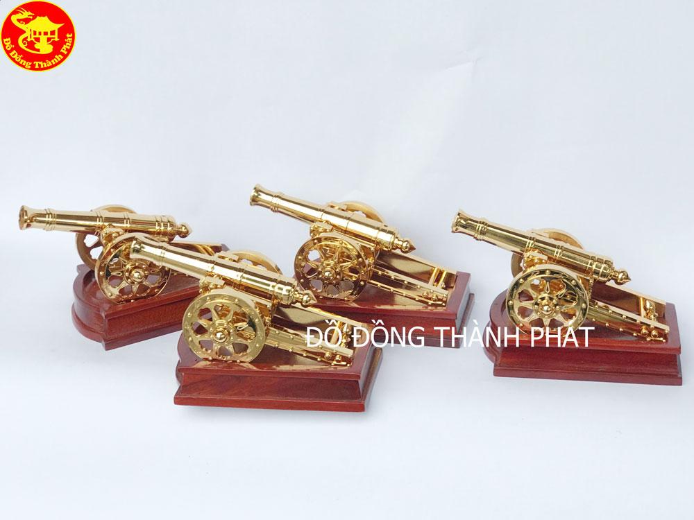 Súng Thần Công Bằng Đồng Mạ Vàng 24k Cao Cấp Kích Thước Dài 22cm, Cao 10cm