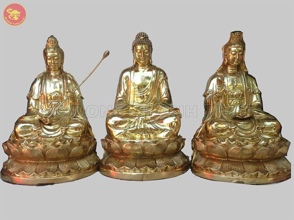 Địa chỉ bán Bộ tượng tam thánh tây phương bằng đồng đẹp uy tín tại Hà Nội, Đà Nẵng, HCM