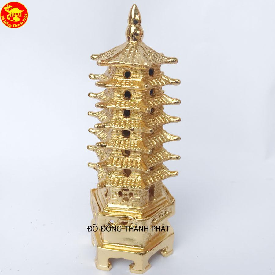 Tháp Văn Xương Bằng Đồng Mạ Vàng 24k Cao Cấp Kích Thước 23cm