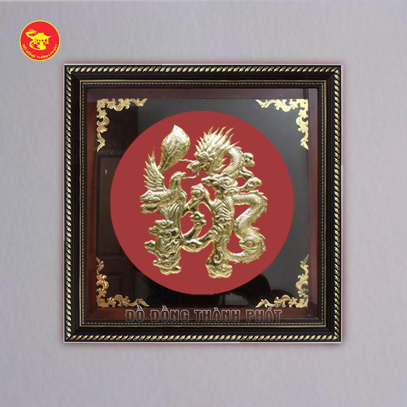Tranh chữ Lộc bằng đồng hóa rồng
