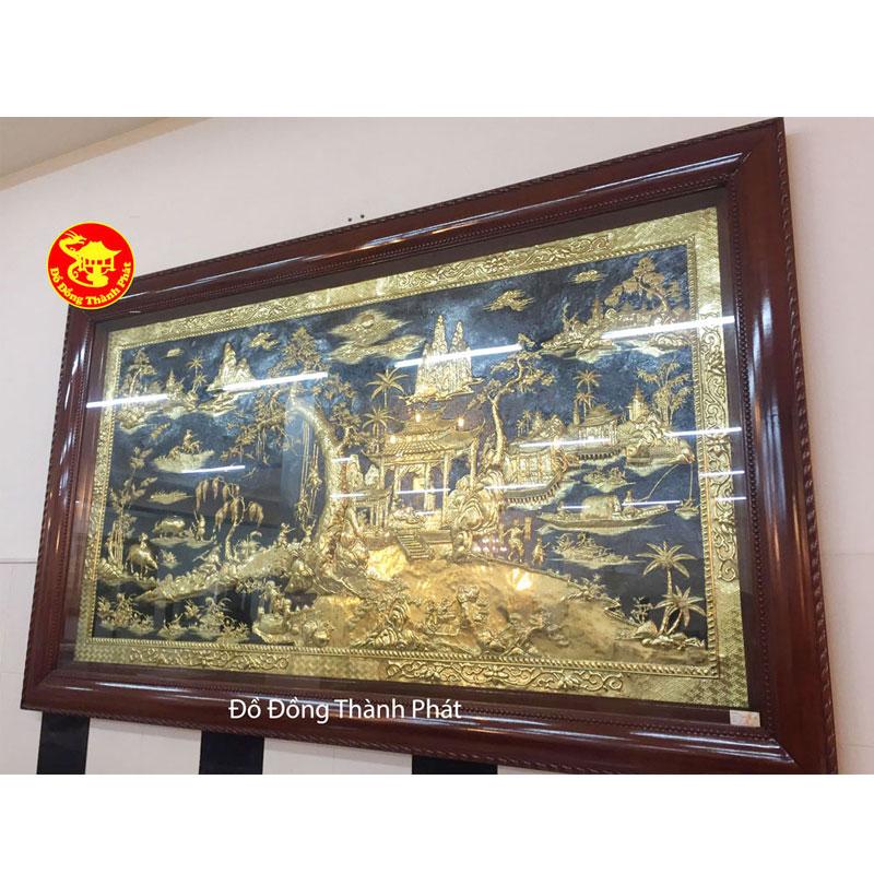 Tranh Đồng Quê Bằng Đồng Mạ Vàng| Địa Chỉ Bán Tranh Đồng Đẹp Uy Tín