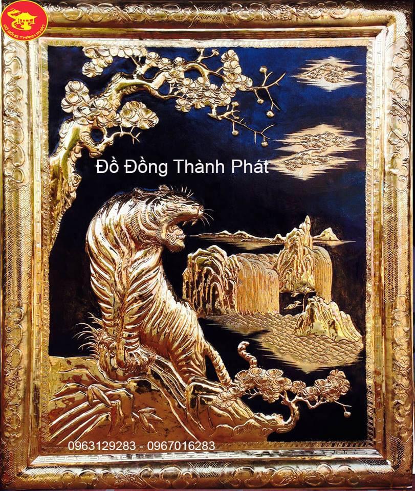 Tranh Đồng Chúa Sơn Lâm Mạ Vàng 24k| Địa Chỉ Bán Tranh Đồng Tại Hà Nội