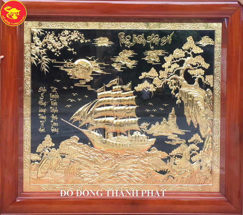 Tranh Phong Thủy - Tranh Thuận Buồm Xuôi Gió Mạ Vàng