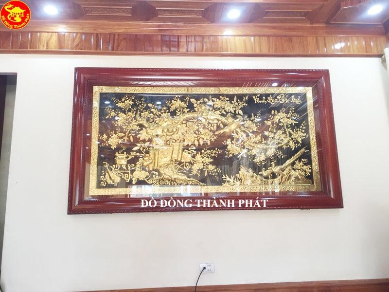 Tranh Đồng Mạ Vàng Vinh Hoa Phú Quý Cao Cấp Tại Hà Nội