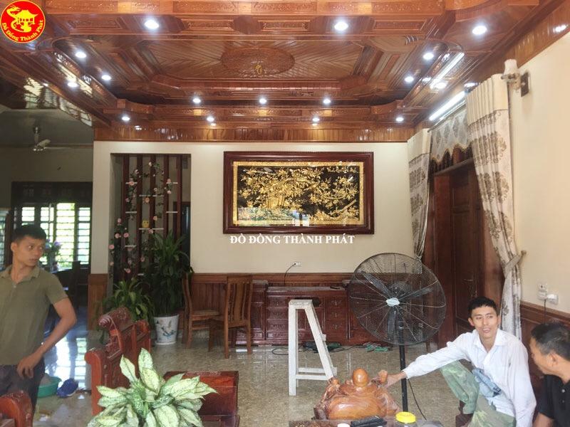 Tranh Đồng Phong Thủy - Tranh Vinh Hoa Phú Quý Bằng Đồng