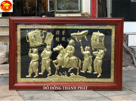Tranh Đồng Vinh Quy Bái Tổ Bằng Đồng Tích Tranh Vinh Quy Bái Tổ Dài 1,27 m Cho Khách Cao Bằng