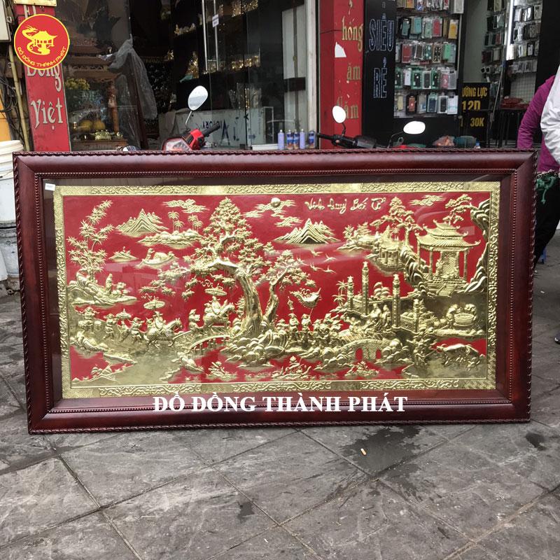 Tranh vinh quy bái tổ bằng đồng hàng thửa tại Hà Nội