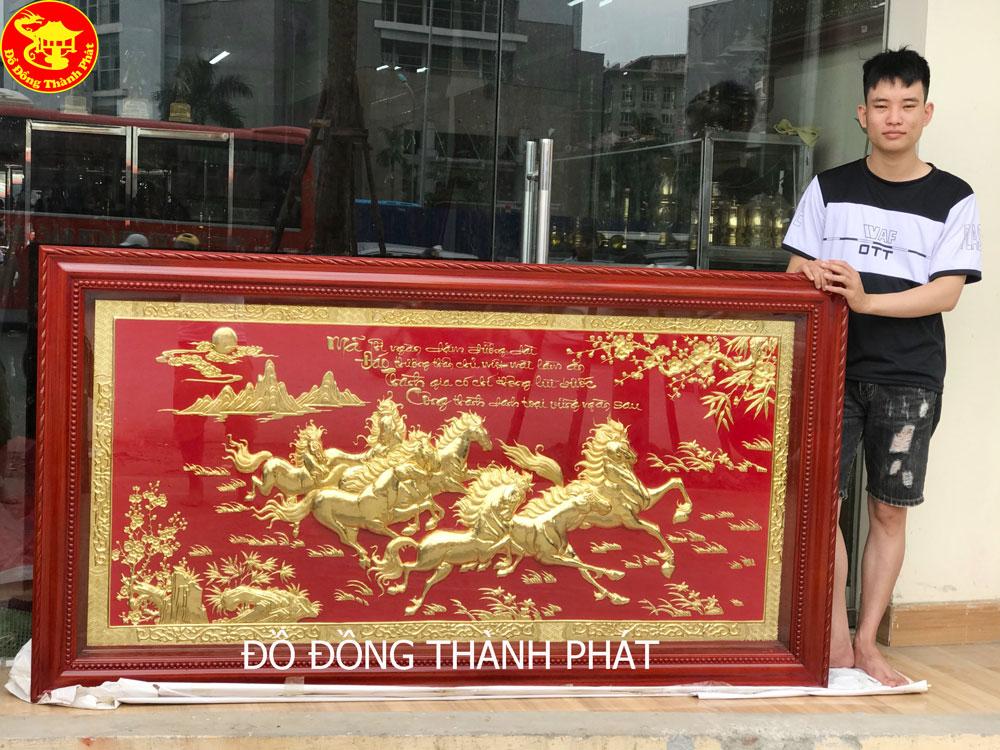 Tranh Đồng Mã Đáo Thành Công Mạ Vàng 24k Cao Cấp Tại Đồ Đồng Thành Phát