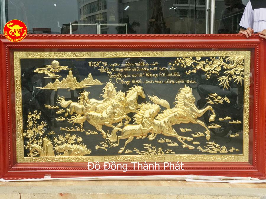 Tranh Đồng Mã Đáo Thành Công Mạ Vàng 24k Cao Cấp