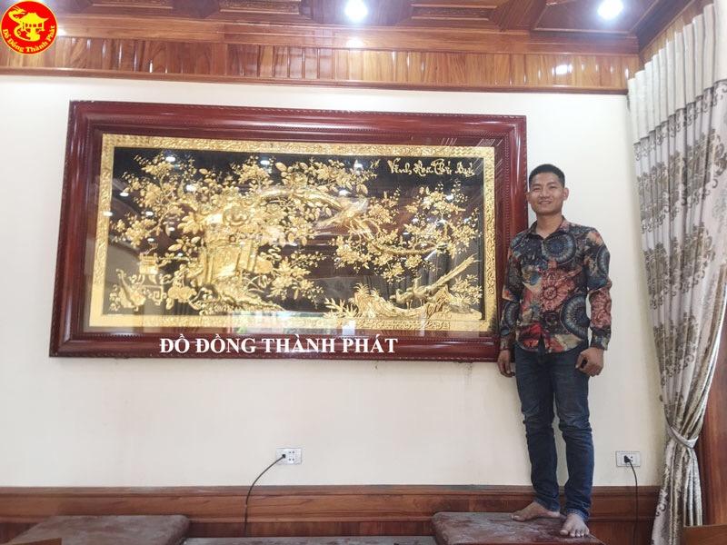 Tranh Đồng Vinh Hoa Phú Quý Lắp Đặt Cho Khách Tại Hòa Bình