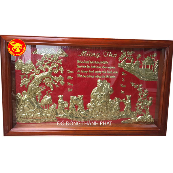 Tranh Đồng Mừng Thọ Cụ Ông| Địa Chỉ Bán Tranh Đồng Hà Nội, Đà Nẵng,HCM