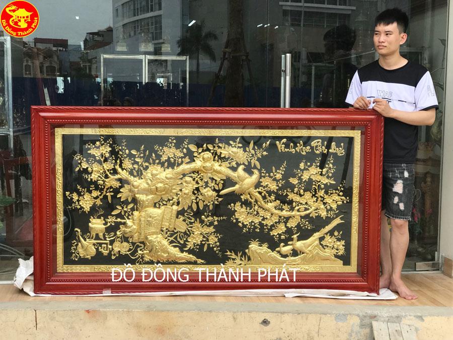 Tranh Đồng Vinh Hoa Phú Quý Mạ Vàng 24k Cao Cấp Tại Hà Nội, Đà Nẵng, Sài Gòn.