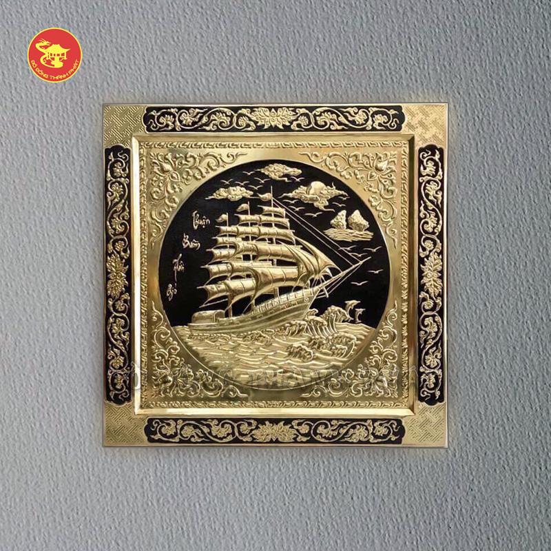 Tranh đồng Thuận Buồn Xuôi Gió liền khung